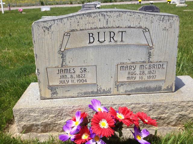 James Burt Sr and Mary McBride Burt