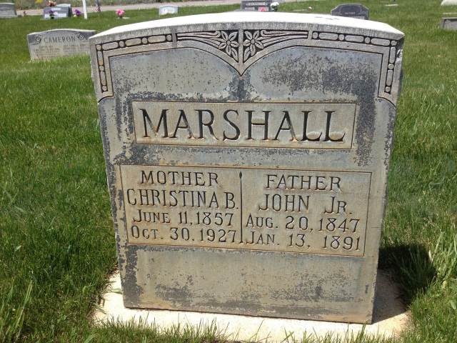 John Marshall Jr and Christina Burt Marshall